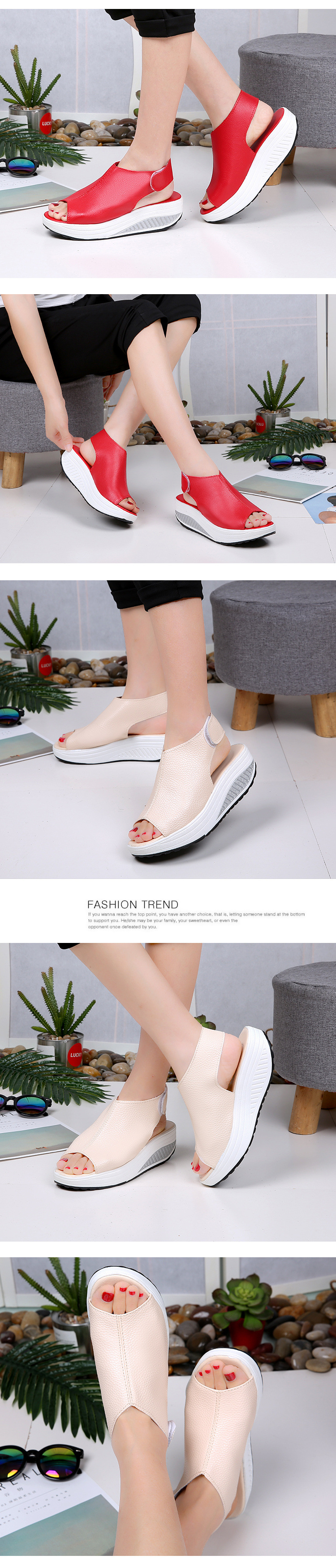 2019 Fashion Women Summer Female Sandals Vintage Wedges Platform Shoes Peep Toe Sandal High Heels Fish Toe Shoes Zapatos Mujer99