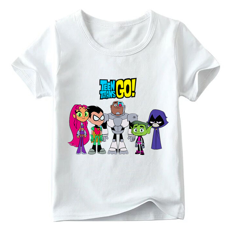 Children Cartoon Teen Titans Go Funny T shirt Summer Baby Boys/Girls Tops Short Sleeve T-shirt Kids Casual Clothes,HKP5129 figure skating clothing black ice skating dress custome hot sale girls skating suit absorb sweat washable spandex dance wear