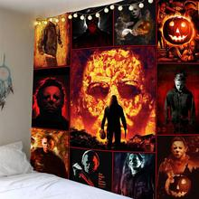 Firing man Tapestries Wall Hanging Skull Famous star Printed Tapestry Camping Tent Travel Sandy Beach Throw