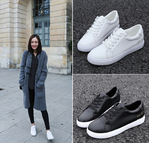 New Fashion Leather Lace Canvas Sneaker