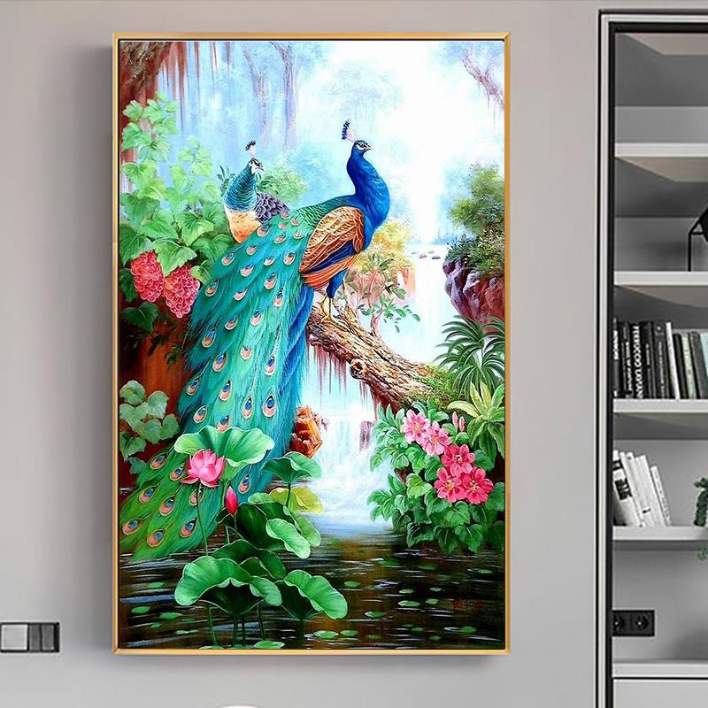 Diamond Embroidery Painting-Peacock Cross-Stitch Gift Rhinestone Animal Home-Decoration