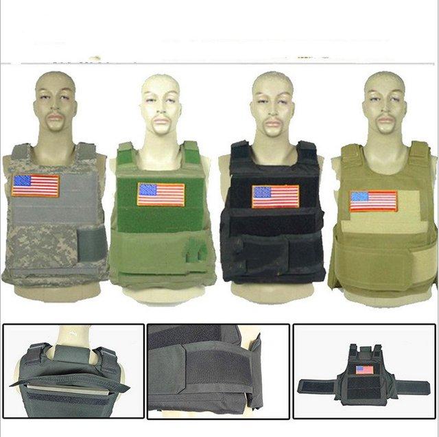 Treinamento de segurança real CS camuflar combate colete tático colete à prova de balas