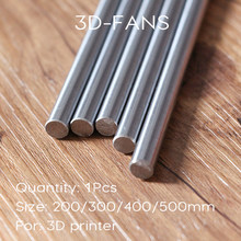 1Pcs Optical Axis OD 8mm x 200/300/400/500mm Cylinder Liner Rail Linear Shaft chrome For 3D Printer & CNC(China)