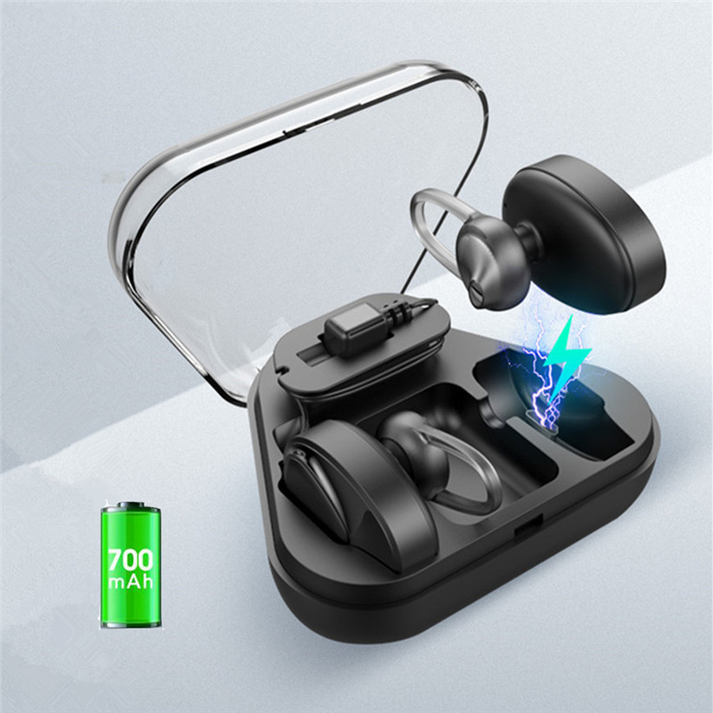 TWS Bluetooth Earbud Mini Invisible V4.2 Wireless Dual Bluetooth Headphone Twins Earphone with 700mAh Charging Case for phone