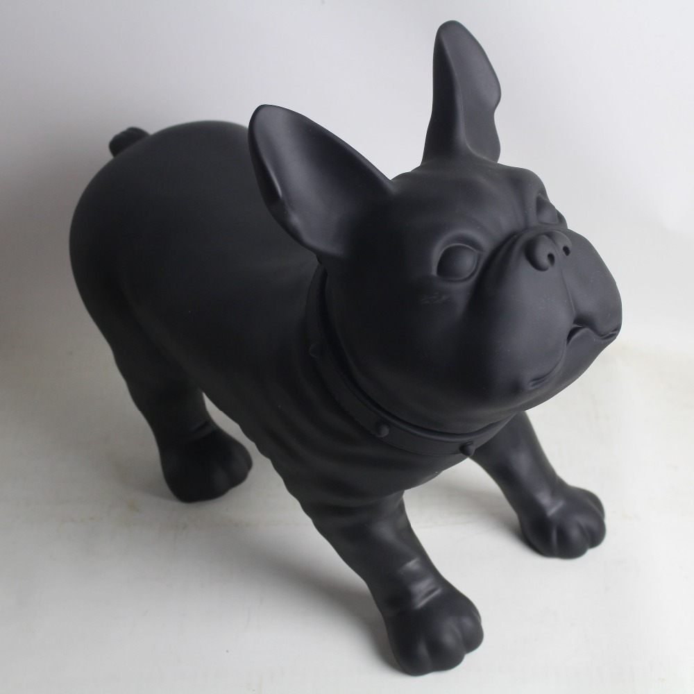 Black French Bulldog Dog Mannequin Sale For Pet Shop Display