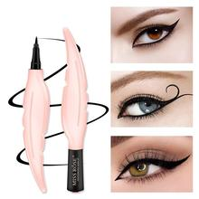 Feather Black Waterproof Eyeliner Fast Drying Long Lasting Precision Liquid Eye Liner Beauty Pen Smooth Protable Cosmetic Tools