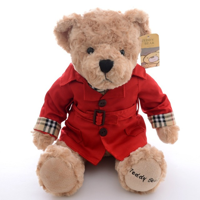 Large  Red Teddy Bear Plush Decor Collection Doll Bags Ornaments Toy Gift for Children Bears 12*6'' New