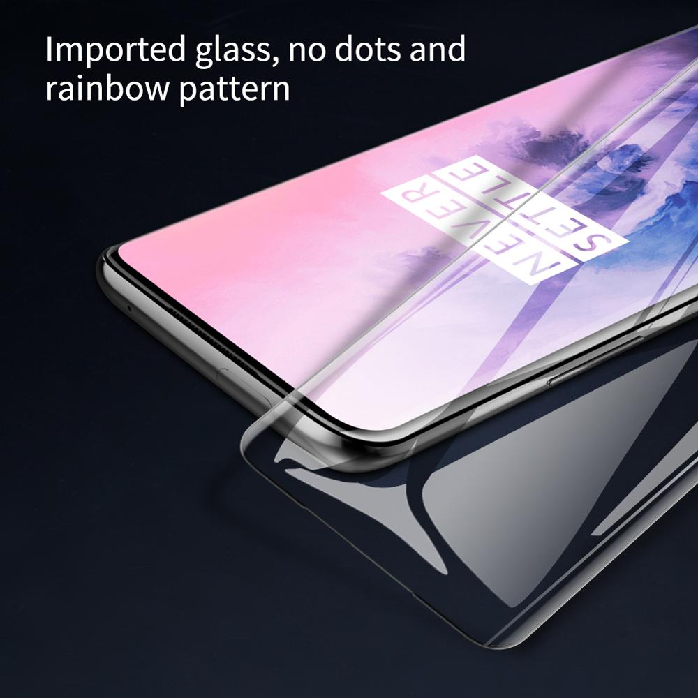 Image 4 - 1+ 7 pro 3D DS+ Max Full Cover for OnePlus 7 Pro Glass Tempered Glass Screen Protector Round Edge 1+ 7 pro Nilkin HD Glass Film-in Phone Screen Protectors from Cellphones & Telecommunications