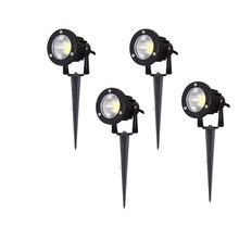 220 В 110 в DC12V наружный светильник ing светодиодный светильник для газона ландшафтный светильник s водонепроницаемый 5 Вт 10 Вт IP65 Спайк COB светильник для сада точечные лампы
