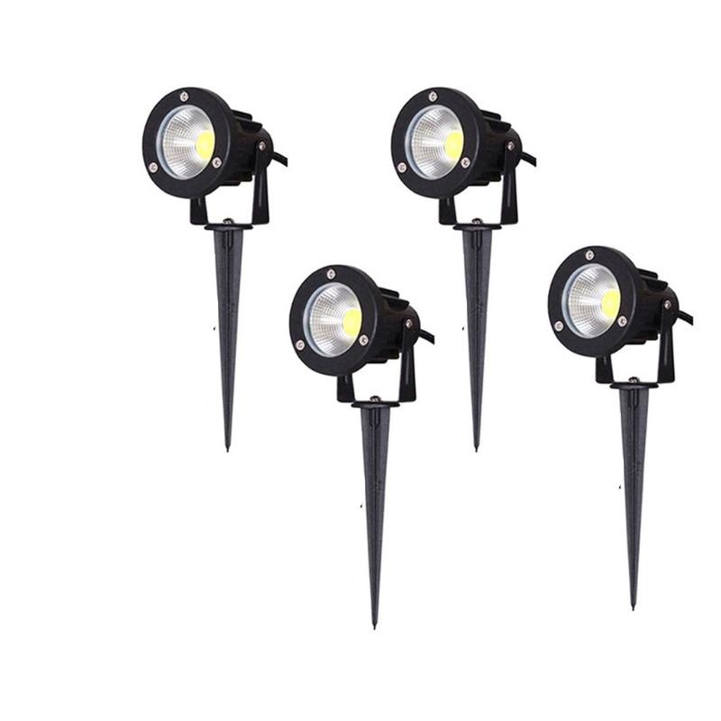 220V 110V DC12V Outdoor Lighting LED Lawn Lamp Landscape Lights Waterproof  5W 10W  IP65 Spike COB Light For Garden Spot Bulbs