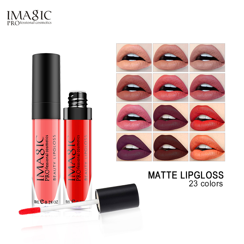 IMAGIC Makeup Liquid Lipstick Hot Sexy Colors Lip Paint Matte Lipstick Waterproof Strawberry Long Lasting Gloss  Lip Gloss