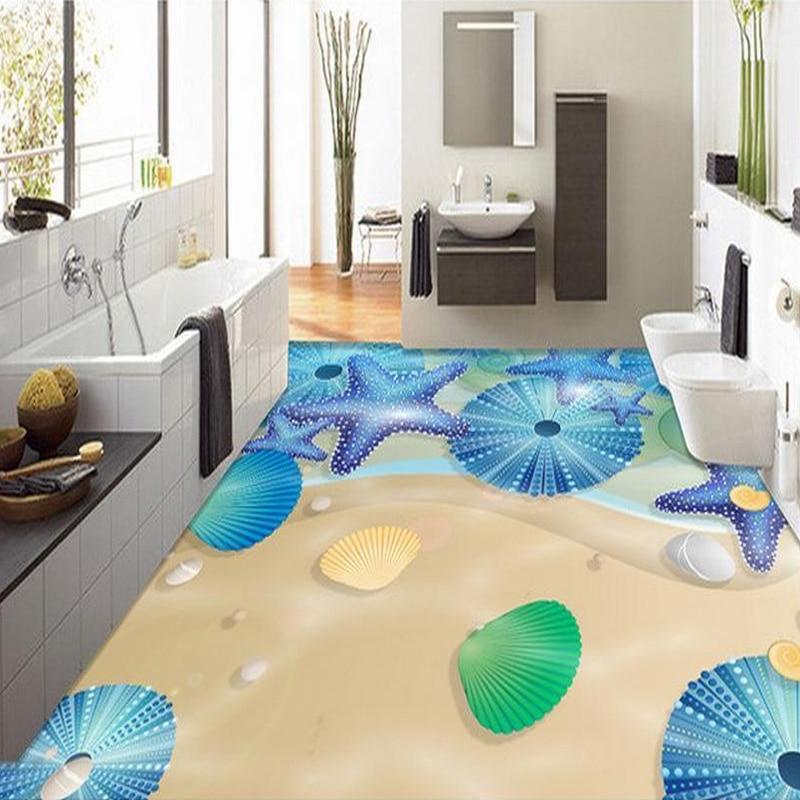 Us 177 41 Offbeibehang Nach 3d Foto Tapete Schöne Muscheln Seesterne Boden Aufkleber Schlafzimmer Badezimmer Dekor Boden Selbstklebende