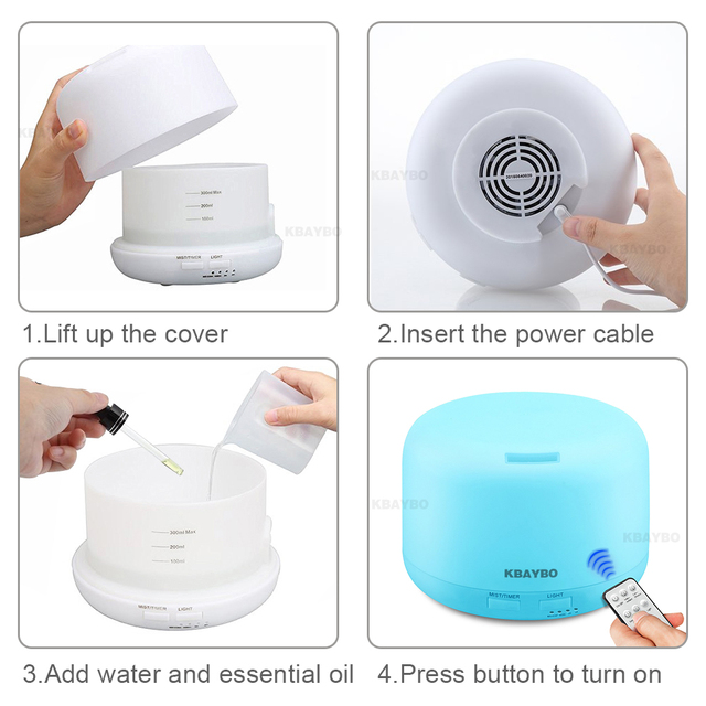 Remote Control Aroma Humidifier With 7 Color