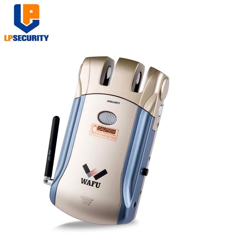 LPSECURITY télécommande sans fil serrure électronique Invisible sans clé serrure de porte d'entrée avec 4 télécommandes - 3