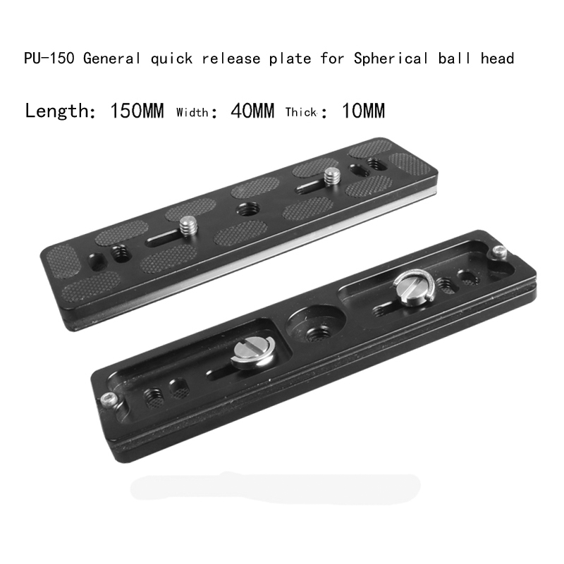 Free shipping 150mm Length Quick Release Plate with 1/4 and 3/8 Camera Screws for Tripod Monopod Ball Heads Mount