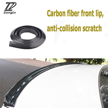 ZD Car Carbon Fiber Front Rear Bumper Lip Tail Protection Spoilers For Alfa Romeo 159 BMW E46 E39 E36 E90 Audi A3 A6 C5 A4 B6 B8 image
