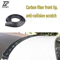 ZD Car Carbon Fiber Front Rear Bumper Lip Tail Protection Spoilers For Alfa Romeo 159 BMW E46 E39 E36 E90 Audi A3 A6 C5 A4 B6 B8