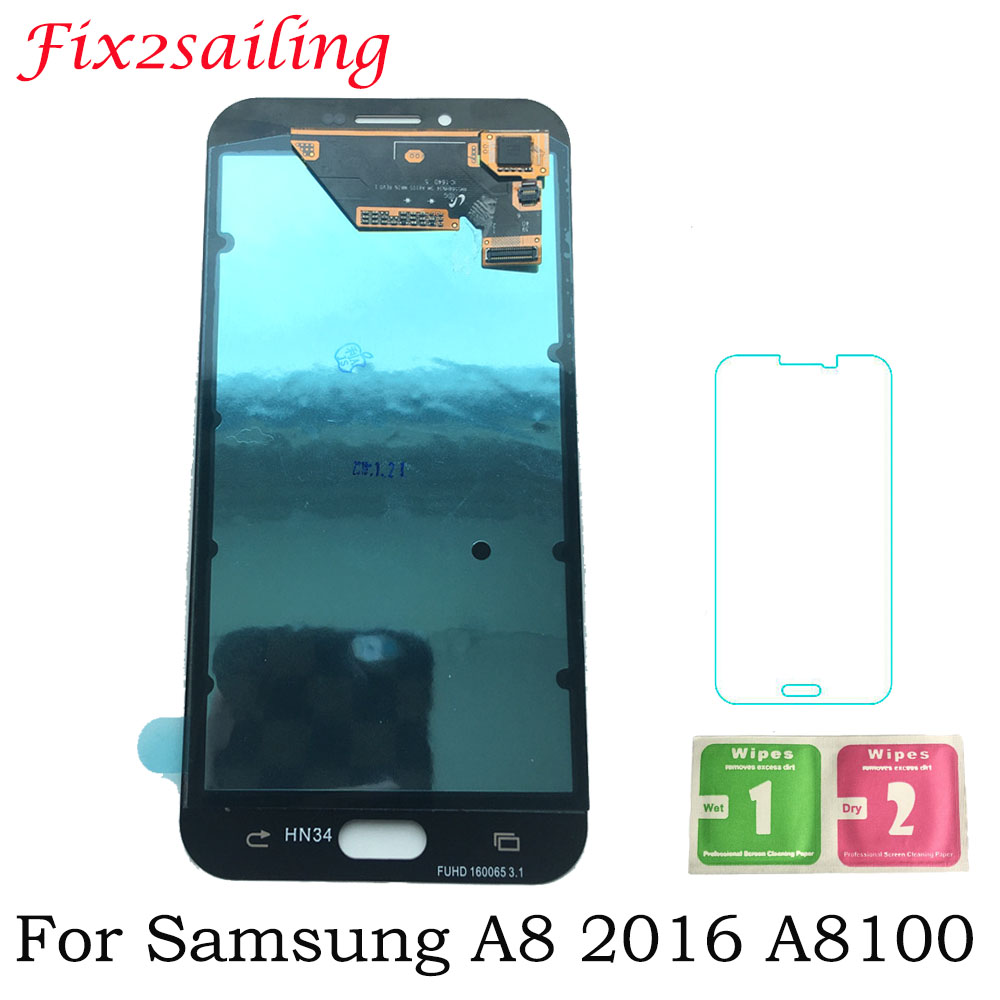 Super Amoled A8 LCD Display For Samsung Galaxy A8 2016 A8100 A810 LCD Display Touch Screen Digitizer Assembly Replacement PartsSuper Amoled A8 LCD Display For Samsung Galaxy A8 2016 A8100 A810 LCD Display Touch Screen Digitizer Assembly Replacement Parts