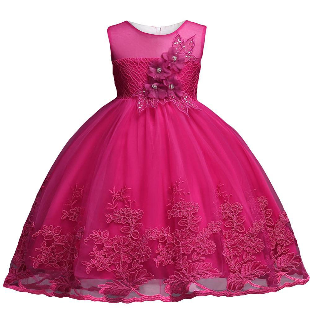 Children Clothing Girls Princess Christmas Kids Dresses For Baby Girls Infant Kids Flower Wedding Party Verstidos Dress Clothes 4