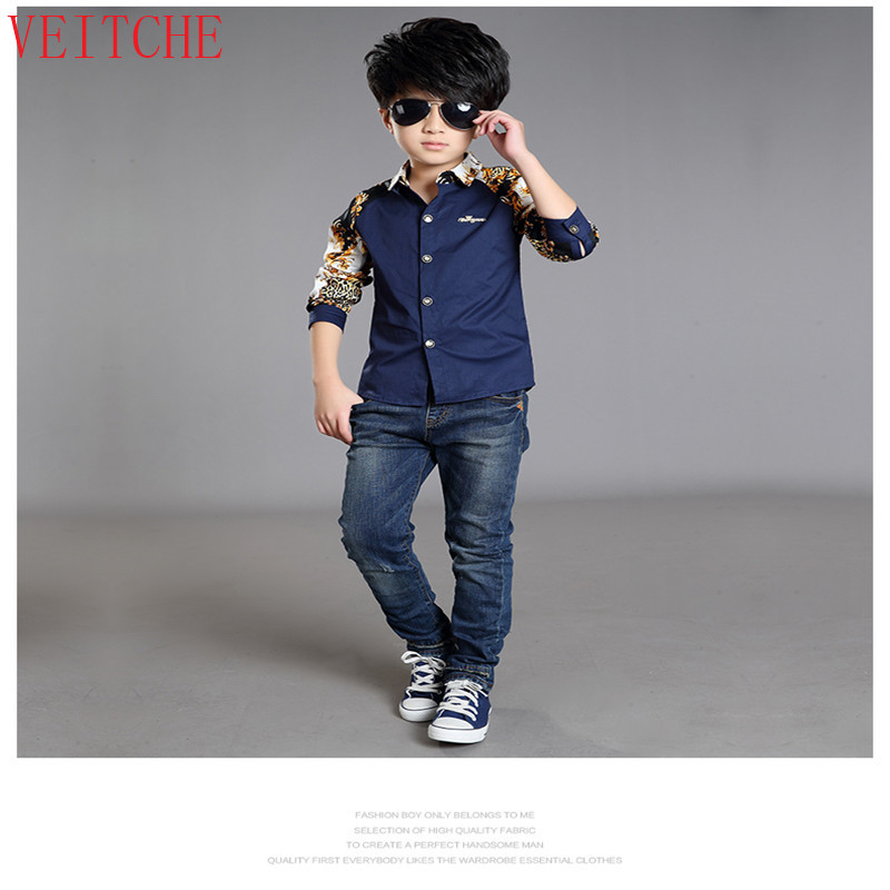 392c6e56b8e Brand Boys Shirts Autumn Spring Children Clothing Cotton Casual Kids Shirts  For Boys Long Sleeve School