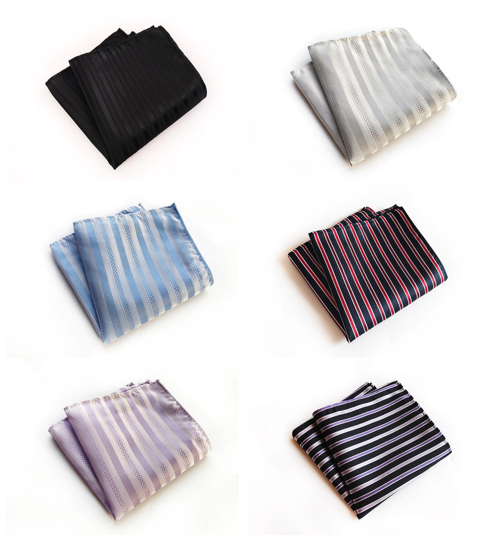 Fashion Explosions Monochrome Business Dress High Quality Pocket Towel Unique Design Retro 25x25cm Polyester Pocket Towel