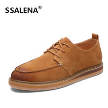 Men Comfortable Flat Leather Casual Shoes Fashion Non-Slip Business Warm Wild Shoes Handmade Moccasins Shoes AA12284