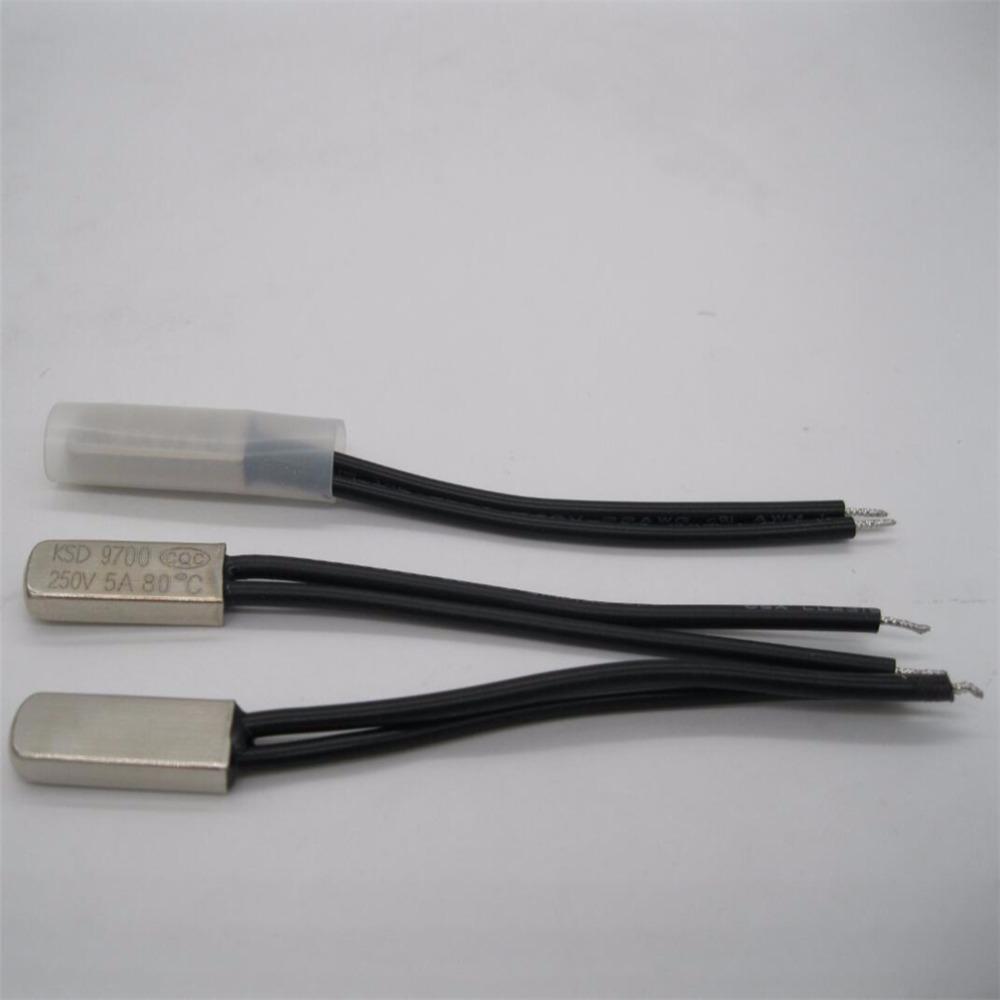 5Pcs KSD9700 Degrees Celsius Thermostat Control Temperature Switch 5A 250HFUK