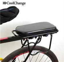 CoolChange Bicycle Saddle Rear Seat Mat Child Cover Bike Rack Cushion For PU Leather Accessories