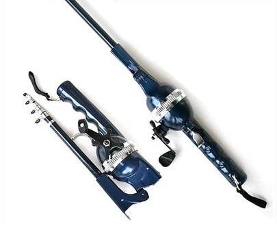 Fishing Rod Folding Sea Pole, Throwing Pole, Folding Fishing Rod, Portable Pocket Fishing Rod Fishing Pole Telescopic portable 5 section telescopic fishing rod pole 2 1m length