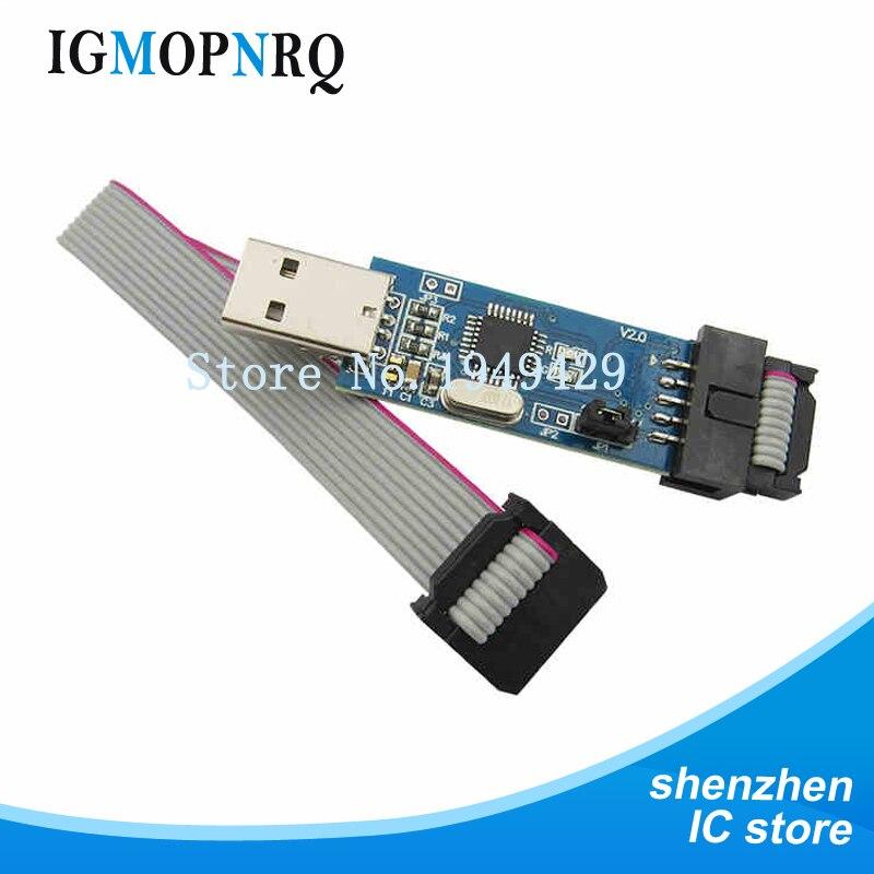 1pcs//lot USBISP USBASP Programmer for AVR ATMega ATTiny 51 AVR Board ISP Downloa