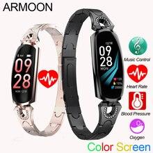 سوار ذكي AK16 القلب معدل الرجال النساء ووتش ضغط الدم جهاز تعقب للياقة البدنية للماء اللون مكالمة رسالة النشاط الرياضية الفرقة