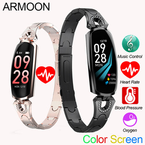 Image 1 - スマートブレスレット AK16 心拍数男性女性腕時計血圧フィットネストラッカー防水カラーコールメッセージ活動スポーツバンド