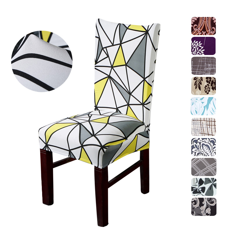 Floral Print Chair Cover Hjem Dining Elastic Chair Deksler Multifunksjonell Spandex Elastic Cloth Universal Stretch 1 Piece