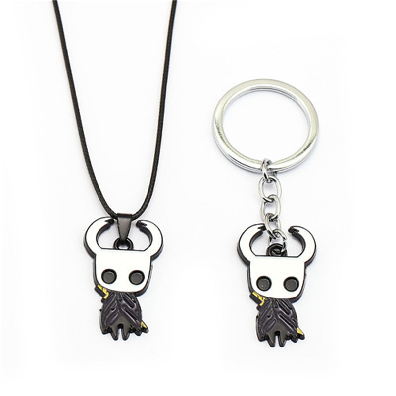 New Game Hollow Knight Keychain Key Ring Kry Chain Wanderer Lapel Pendant Men Car Women Bag Jewelry Chaveiro Toy Gift