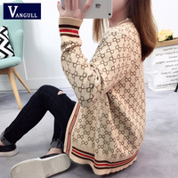a02627074 Women Sweater With Buttons Long Sleeve Striped Knitted Cardigan Ladies  Spring 2018 New Arrival Oversize Luxury. Camisola das mulheres ...