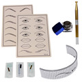 Tattoo Kits Permanent Makeup Microblading Eyebrow Tattoo kit Pen Needle Paste Skin Ruler G61014