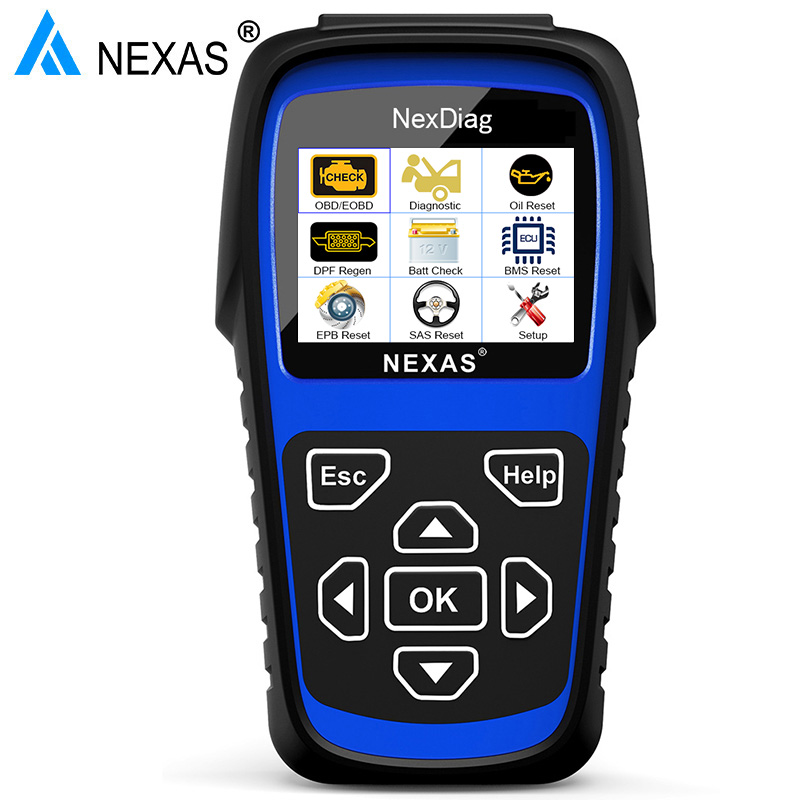 Nexas ND601 OBD2 Auto Scanner Tools Check Engine ABS Airbag SAS EPB BMS Oil DPF Reset For BMW Mini Car Diagnostic Tool ODB Italy