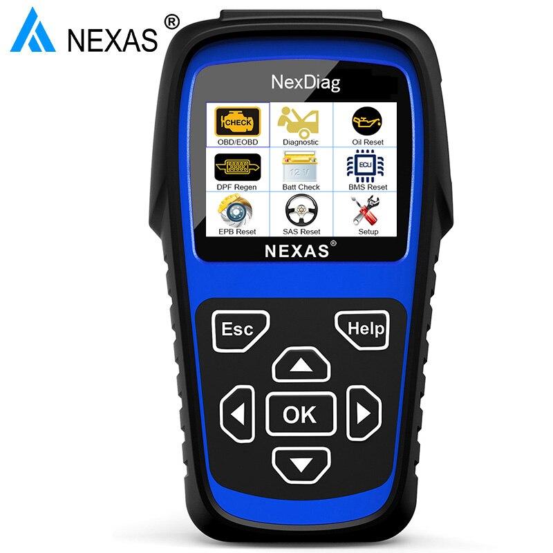 Nexas ND601 OBD2 Auto Scanner outils vérifier moteur ABS Airbag SAS EPB BMS huile DPF réinitialiser pour BMW Mini voiture outil de Diagnostic ODB italie