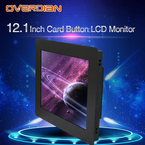 Image 4 - 12inch Lcd Monitor Resistance Touch Industrial Control VGA/DVI/USB Connector Metal Shell Card Buckle Type Installation
