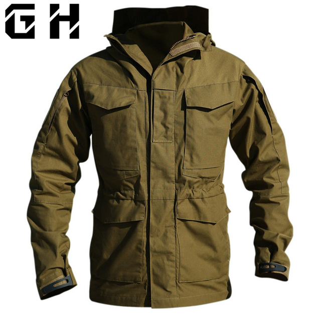 7d2a0fc7f33 M65 UK US Army Clothes Hiking Tactical Outdoors Windbreaker Men Winter  Thermal Flight Pilot Coat Hoodie Military Field Jacket