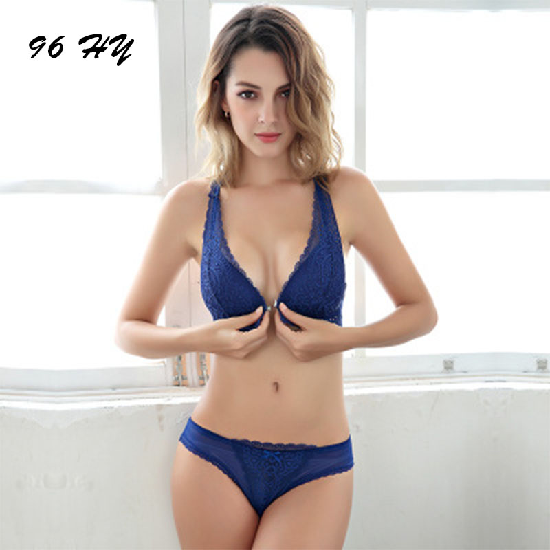 Bra&Brief Push up underclothes for sexy women lace underware set full up Nylon Lingerie set