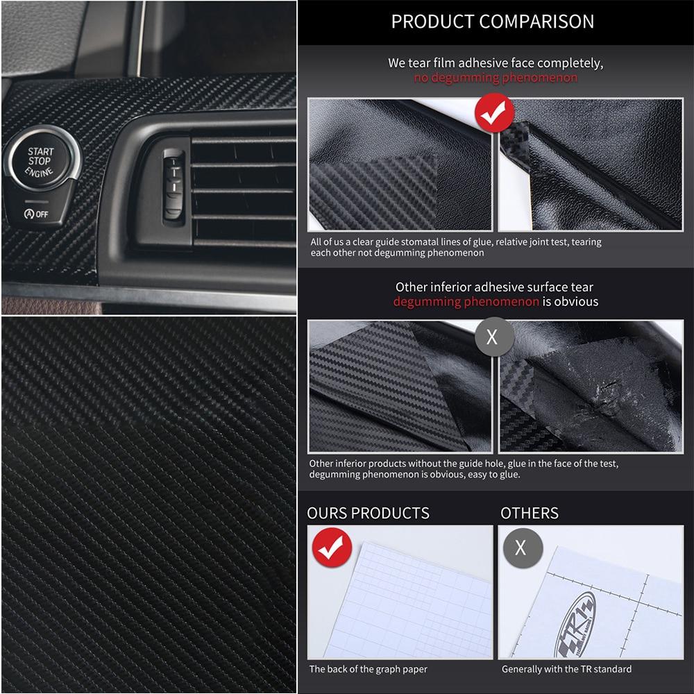 US $2 49 21% OFF|1 Pcs Universal 20cmX152cm Waterproof Car Film Sticker  Thicken 4D Carbon Fiber Vinyl Wrap Roll Film Sticker Car Styling-in Car