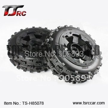 5B Front Knobby Wheel Set(TS-H85078) x 2pcs for 1/5 Baja 5B, wholesale and retail 5b nylon super star wheel with beadlock ring and screws set ts h85076 x 4pcs for 1 5 baja 5b wholesale and retail