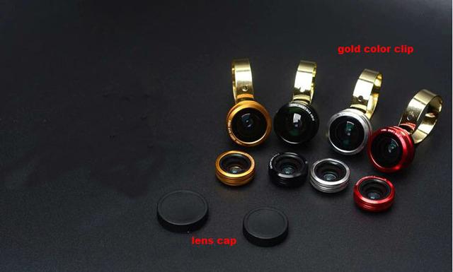 Anillo de Metal Teléfono Móvil Clip Lente ojo de Pez Lente gran angular lente micro Para Huawei P8 Lite, G7 Más G8 Nexus 6 P, P9max