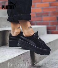 2018 PUMA FENTY Suede Cleated Creeper Wn s Badminton Shoes Rihanna First Generation  Classic Basket Suede Tone Simple Women 36-40 fa8af979d
