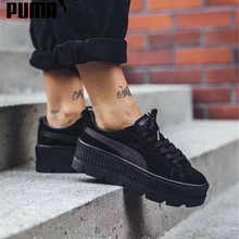 f233089ac3d 2018 PUMA FENTY Suede Cleated Creeper Wn s Badminton Shoes Rihanna First  Generation Classic Basket Suede Tone