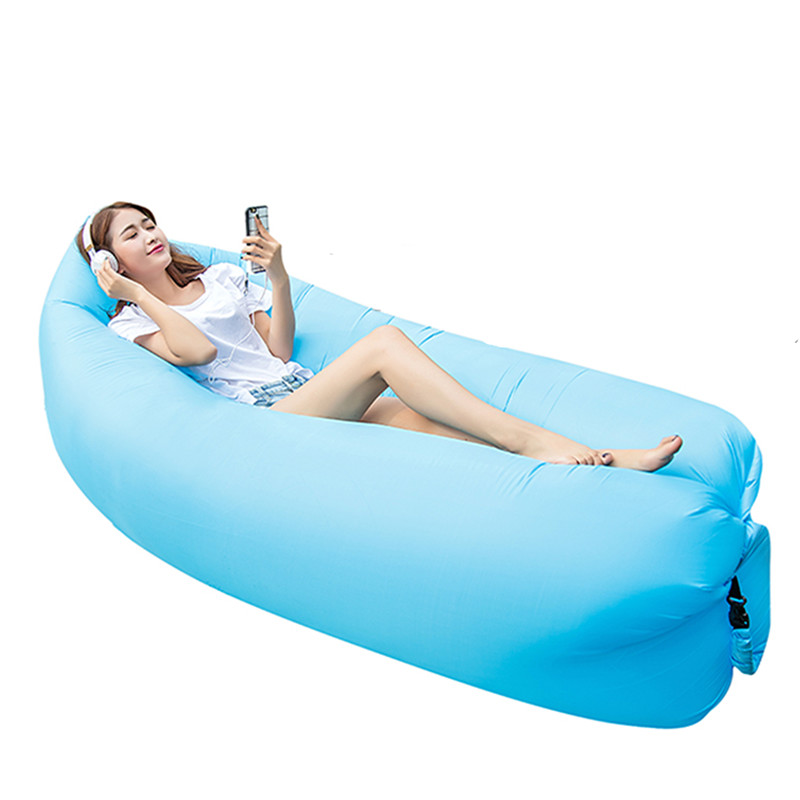 1PC Fast Inflatable Air Sofa Lazy Bag Laybag Lounger Chair Sleep sofa Couch Saco de dormir many colors choices creative quick inflatable laybag sleeping bag leisure hang out lounger air camping sofa beach nylon fabric sleep bed hammocks