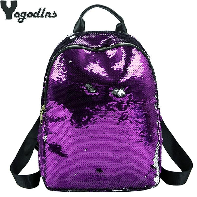 Glitter Backpack Women Sequins Knapsack Teenage Girls Rucksack Fashion Female Gold Black School Sequin Bag Casual Travel