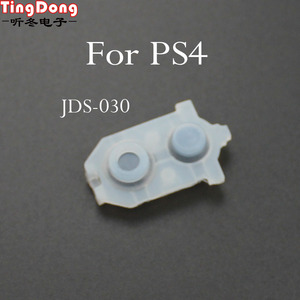 Image 2 - TingDong 100 Set Sony Playstation 4 PS4 Denetleyici İletken Silikon lastik tamponlar Dualshock 4 Düğmeler Onarım Değiştirme