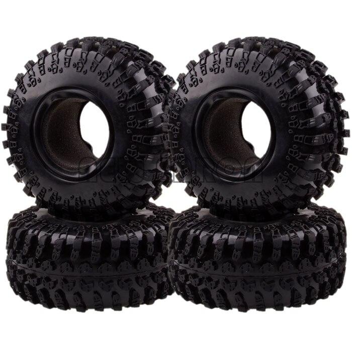 4x 2.2 Rubber Tyre Tires AX-3021 For RC 1/10 BEADLOCK Climbing Rock Crawler mxfans rc 1 10 2 2 crawler car inflatable tires black alloy beadlock pack of 4